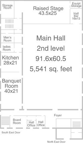 Main Hall floor Plan